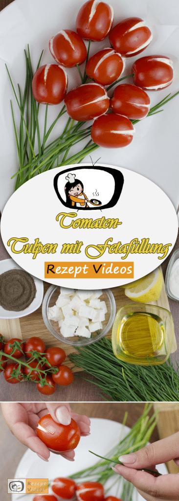 Tomaten-Tulpen mit Fetafüllung, Rezept Videos, leckere Rezepte, Partyfood, Fingerfood, Party Rezept, Snack