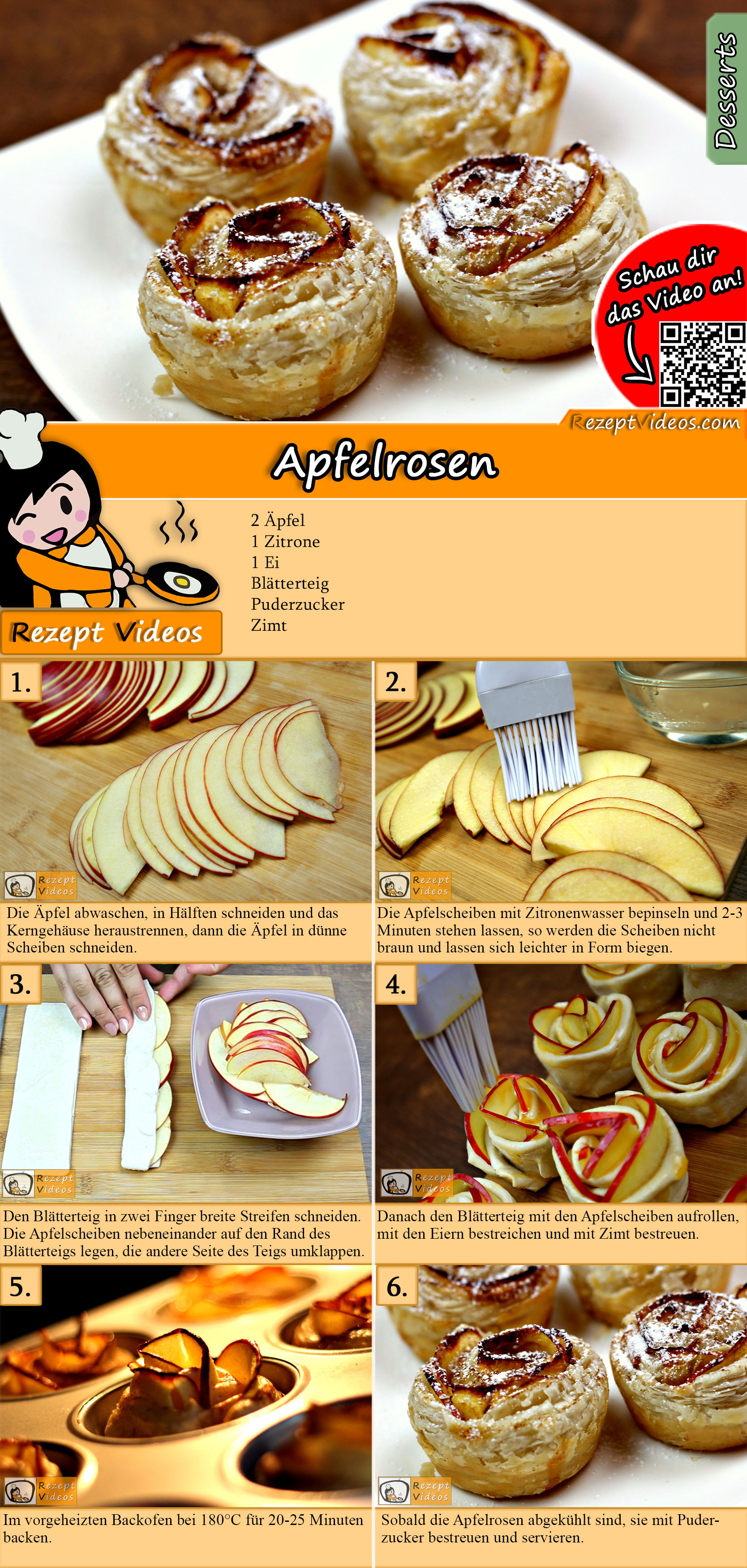 Apfelrosen Rezept mit Video