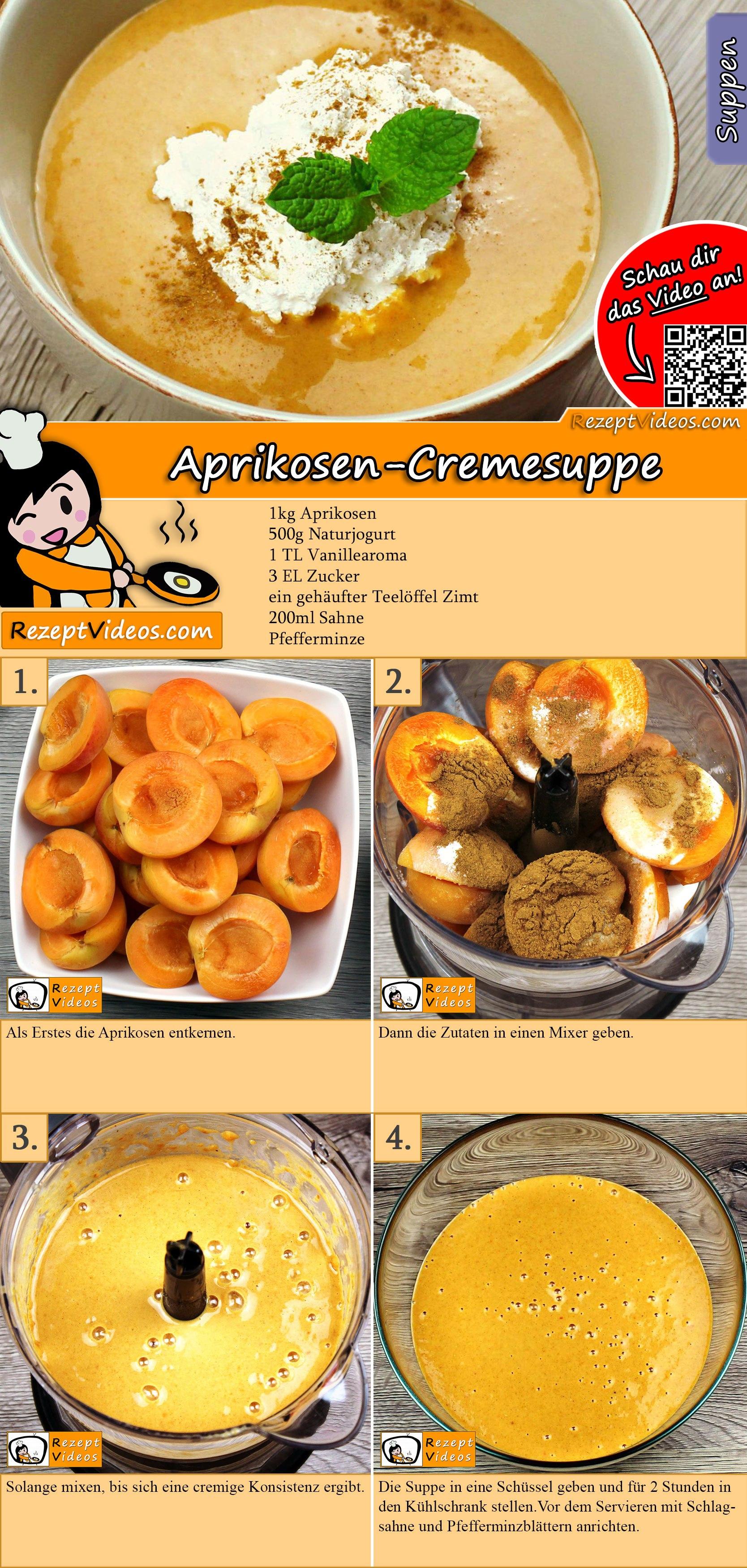 Aprikosen-Cremesuppe Rezept mit Video