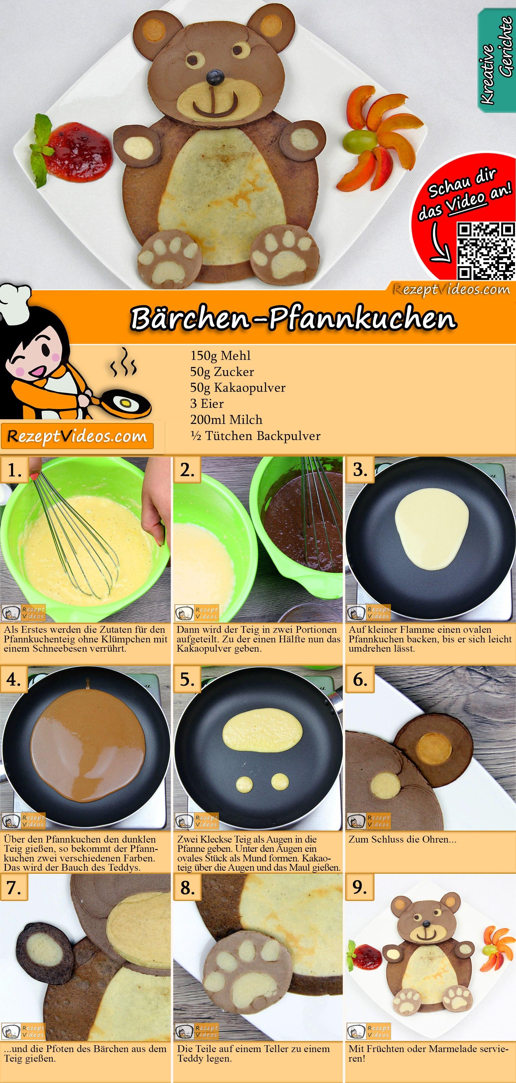 Bärchen-Pfannkuchen Rezept mit Video