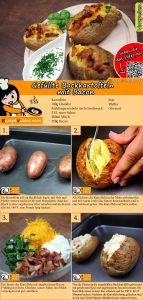 Gefüllte Backkartoffeln mit Bacon Rezept mit Video
