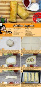 Gefülltes Baguette Rezept mit Video