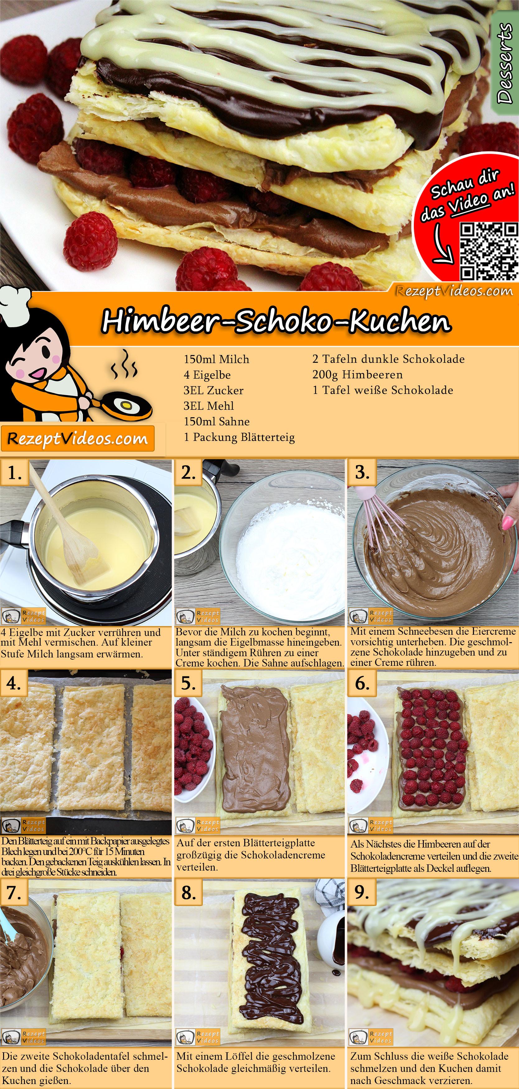 Himbeer-Schoko-Kuchen Rezept mit Video