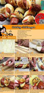 Hotdog-Schlangen Rezept mit Video