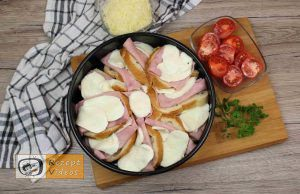 Sandwich-Torte mit Béchamelsoße Rezept Zubereitung Schritt 6