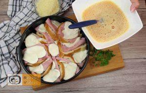 Sandwich-Torte mit Béchamelsoße Rezept Zubereitung Schritt 7