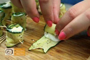 Zucchini Rollen Rezept - Zubereitung Schritt 7