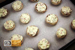 Mit Käsecreme gefüllte Pilze Rezept - Zubereitung Schritt 5