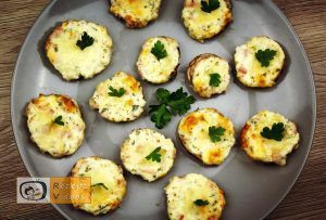 Mit Käsecreme gefüllte Pilze Rezept - Zubereitung Schritt 8