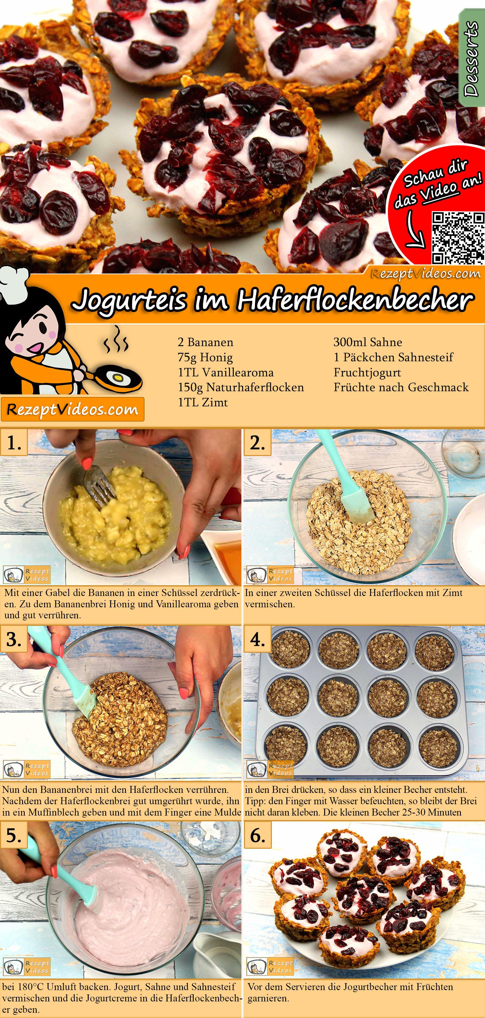 Jogurteis im Haferflockenbecher Rezept mit Video