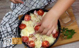 Sandwich-Torte mit Béchamelsoße Rezept Zubereitung Schritt 9