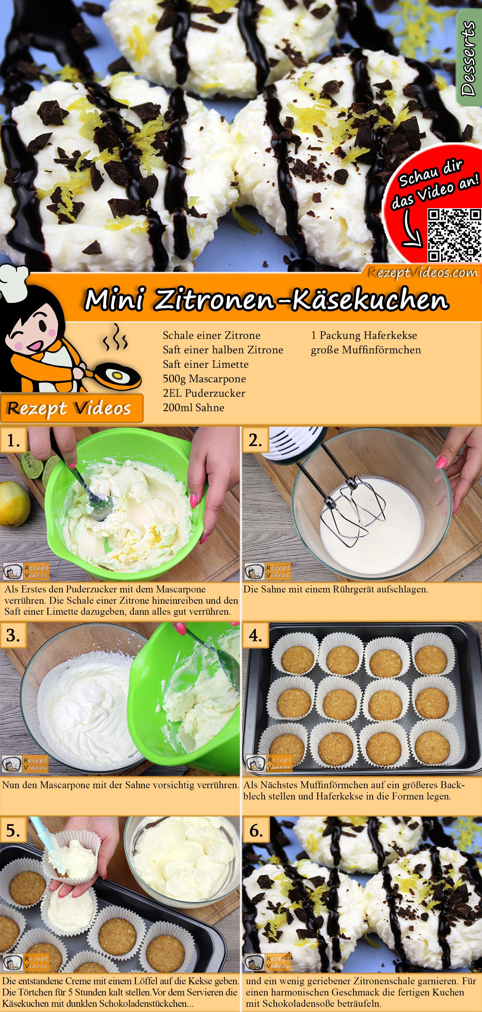 Mini Zitronen-Käsekuchen Rezept mit Video