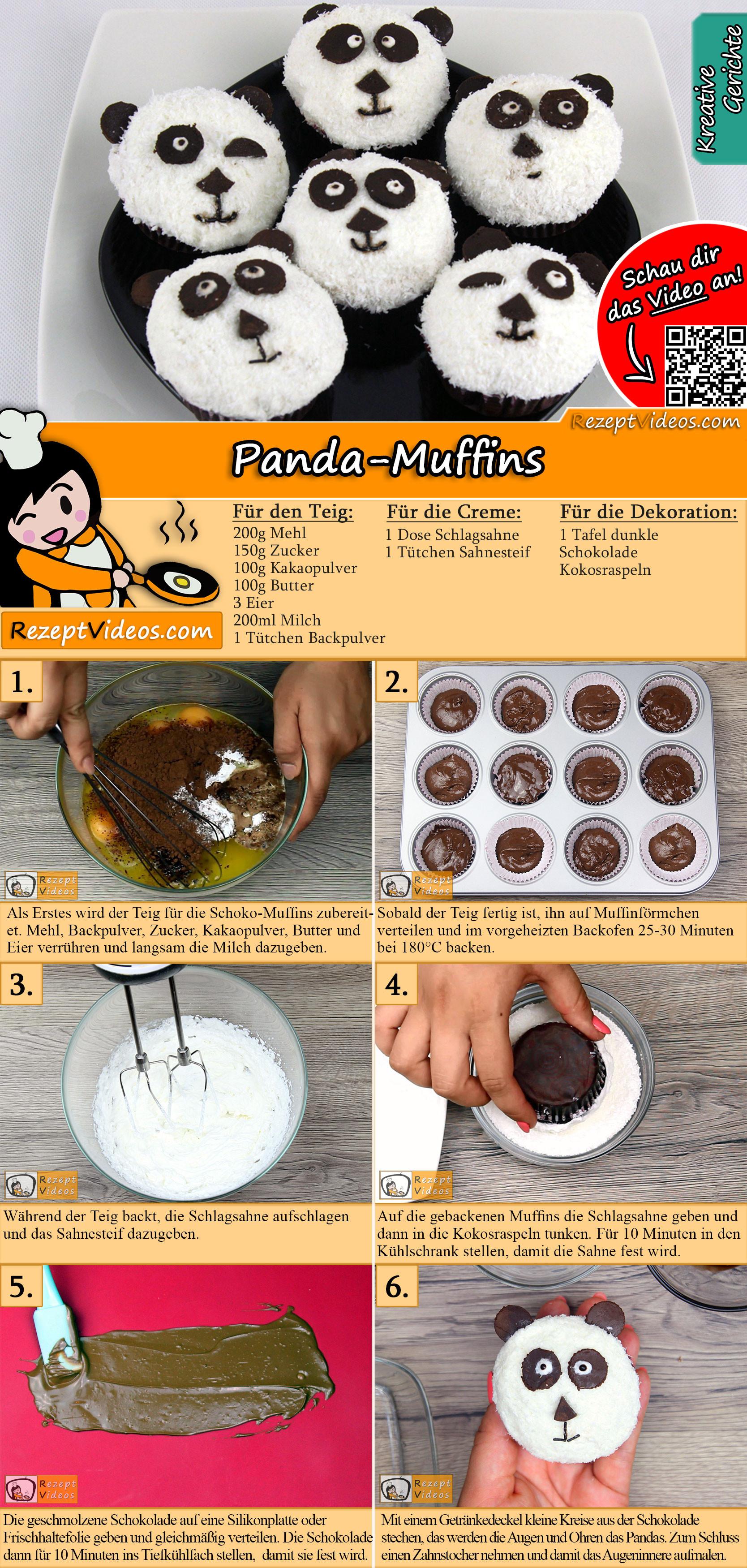 Panda-Muffins Rezept mit Video