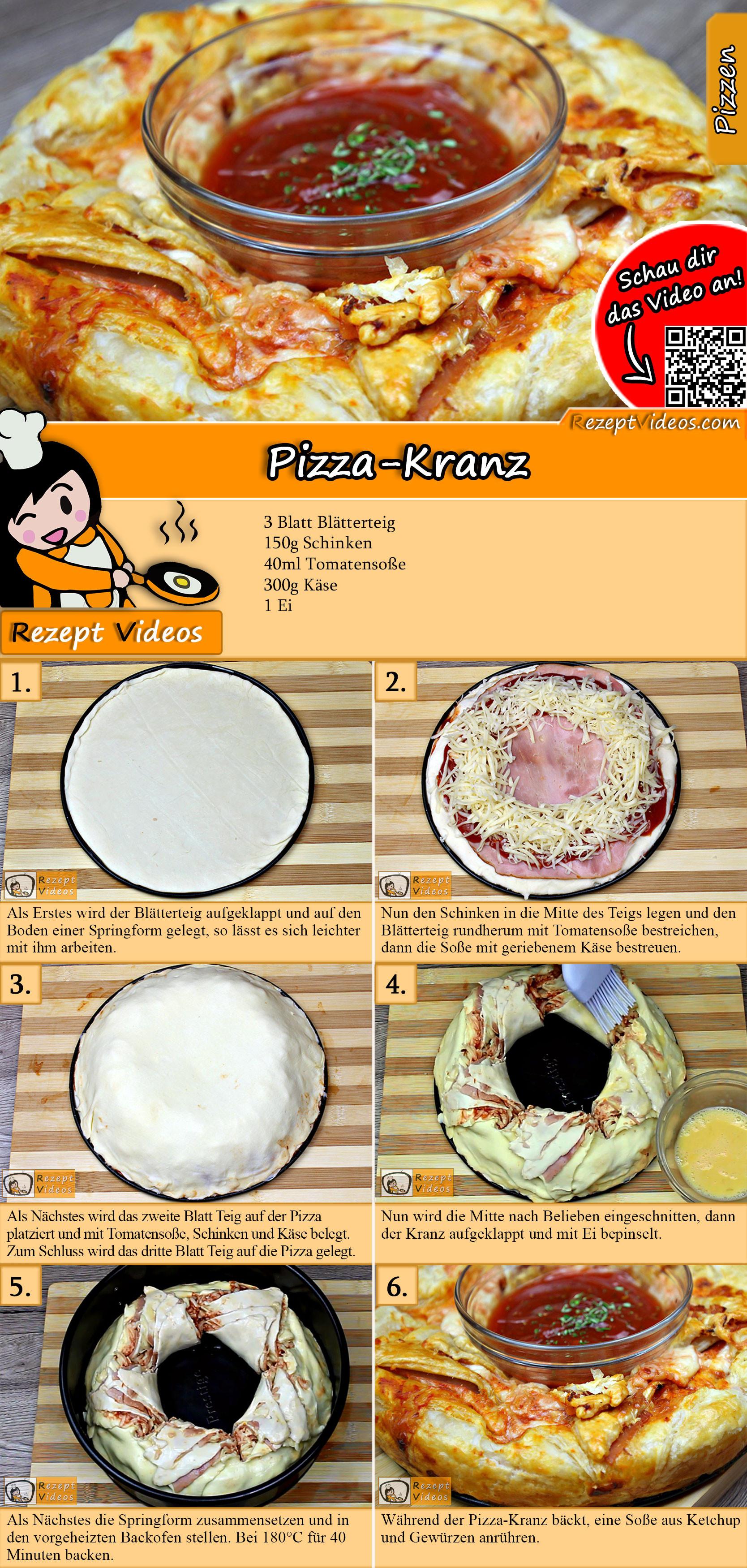 Pizza-Kranz Rezept mit Video
