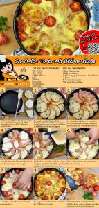 Sandwich-Torte mit Béchamelsoße Rezept mit Video
