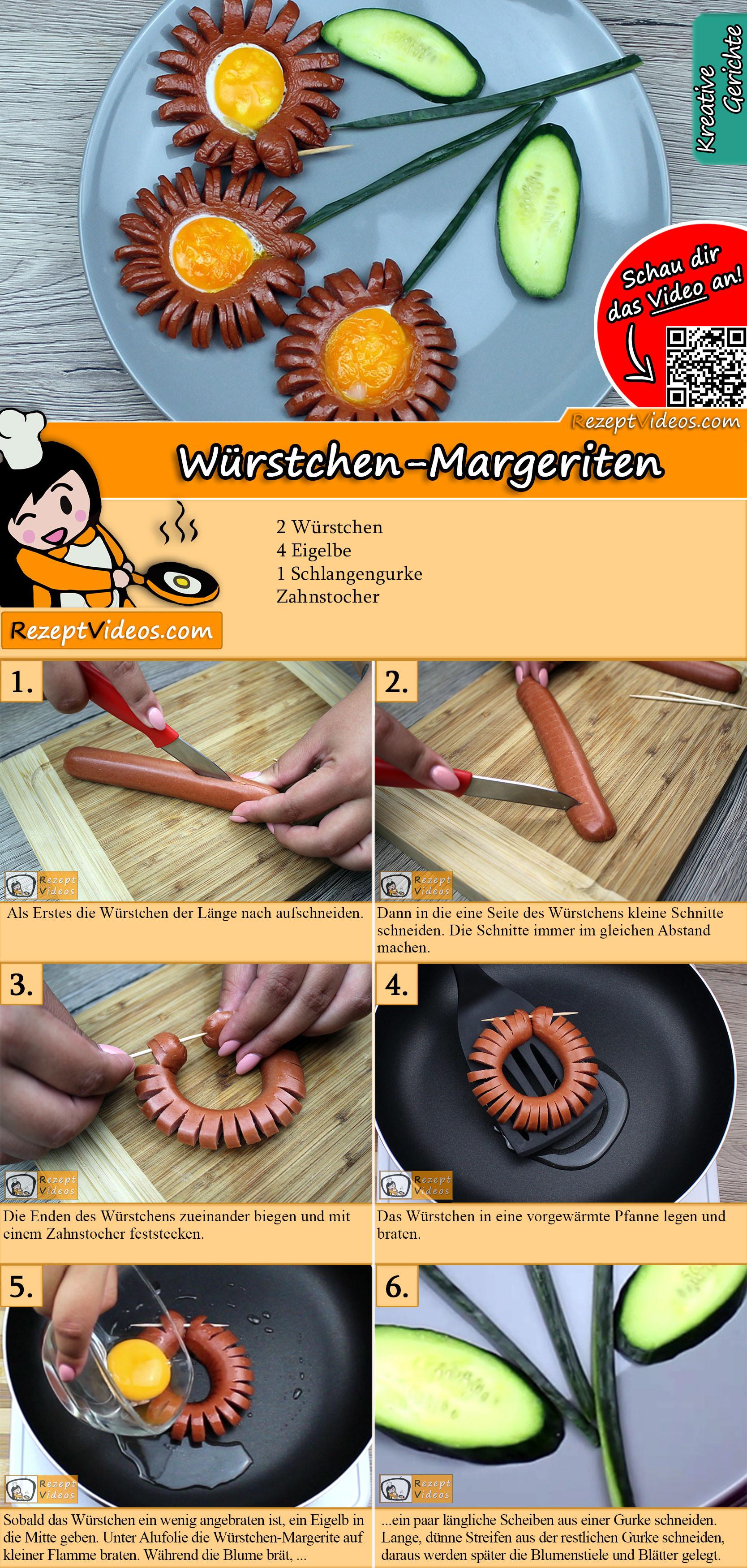 Würstchen-Margeriten Rezept mit Video