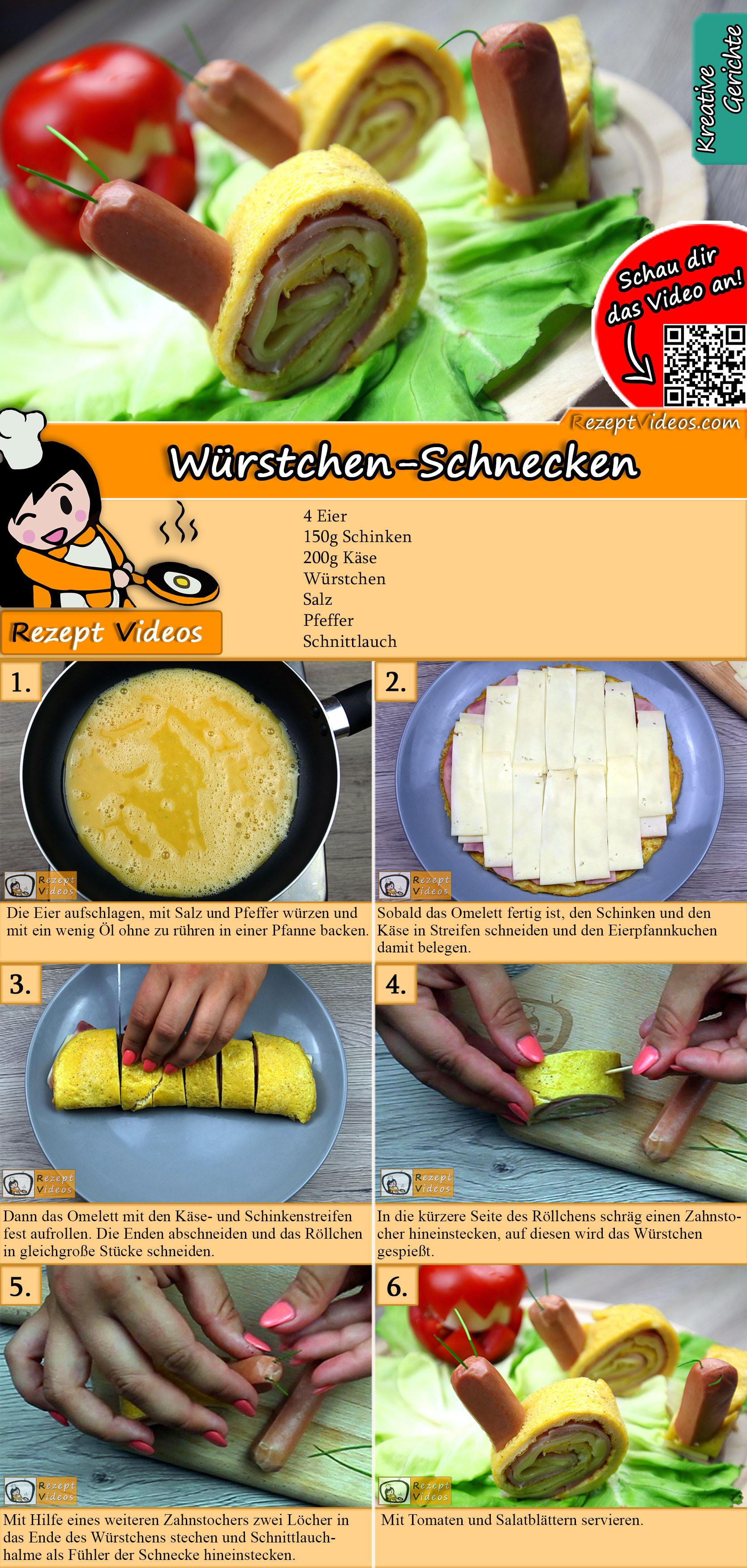 Würstchen-Schnecken Rezept mit Video