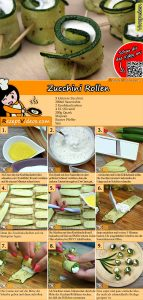 Zucchini Rollen Rezept mit Video
