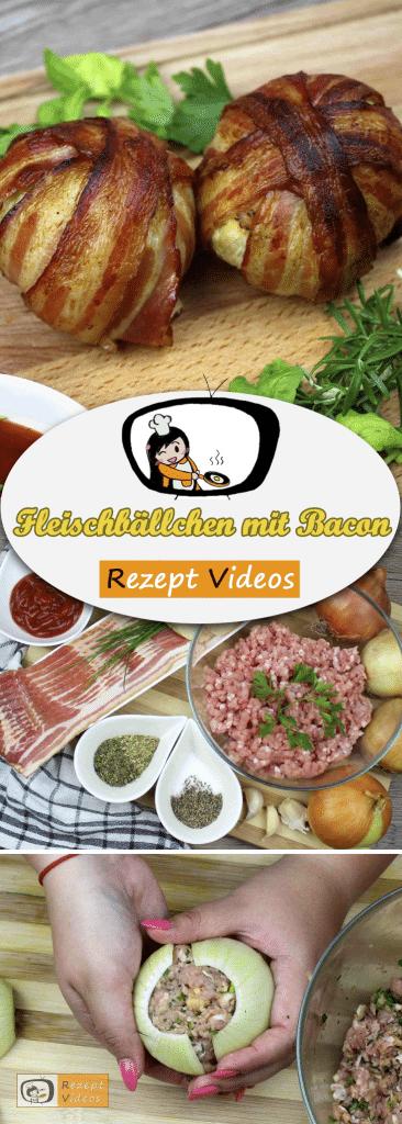 Fleischbällchen mit Bacon, Rezept Videos, Hackfleisch Rezept, einfache Rezepte, Mittagessen Rezept, leckere Rezepte