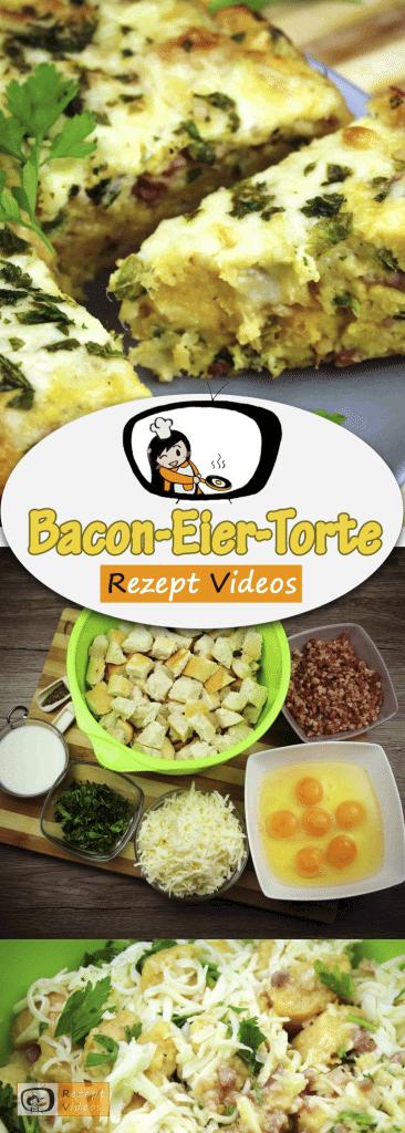 Bacon-Eier-Torte, Rezept Videos, einfache Gerichte, schnelle Rezepte, einfache Rezepte, Rezeptideen, Bacon,