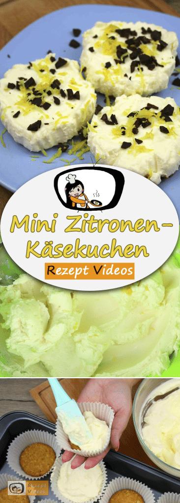 Mini Zitronen-Käsekuchen, Rezept Videos, einfache Rezepte, Kuchenrezepte, leckere Rezepte, Backrezepte, schnelle Gerichte, Käsekuchen Rezept,