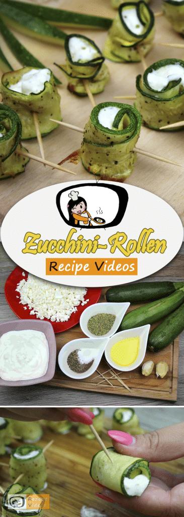 Zucchini-Röllchen, Rezept Videos, einfache Rezepte, Zucchini Rezepte, Gemüserezepte, leckere Rezepte