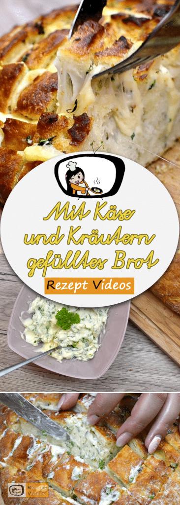 Mit Käse und Kräutern gefülltes Brot, Rezept Videos, Zupfbrot, leckere Rezepte, einfache Rezepte, Brotrezepte, Frühstücksrezepte, Rezept Videos