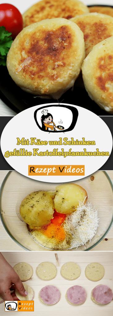 Mit Käse und Schinken gefüllte Kartoffelpfannkuchen, Kartoffel Rezept, Rezept Videos, leckere Rezepte, einfache Rezepte, Frühstück Rezepte, Frühstücksrezepte, schnelle Rezepte