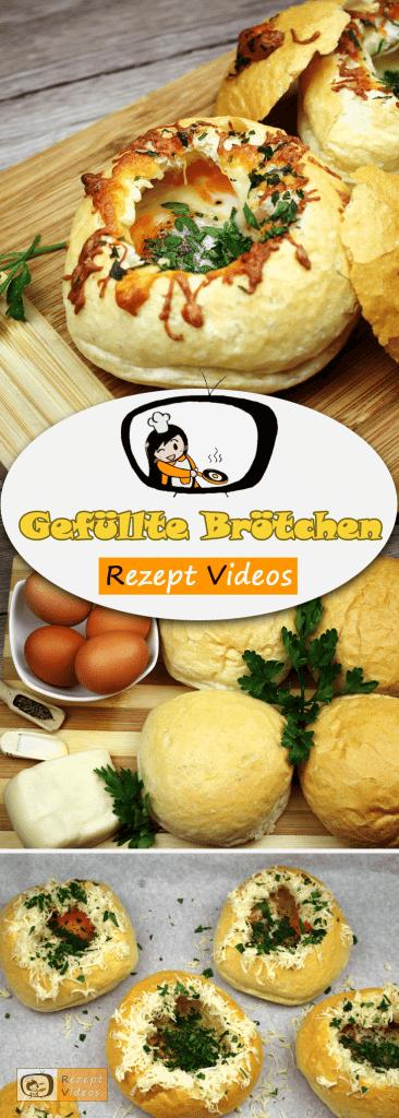 Gefüllte Brötchen, Rezept Videos, leckere Rezepte, einfache Rezepte, Frühstück Rezepte, Frühstücksrezepte, schnelle Rezepte