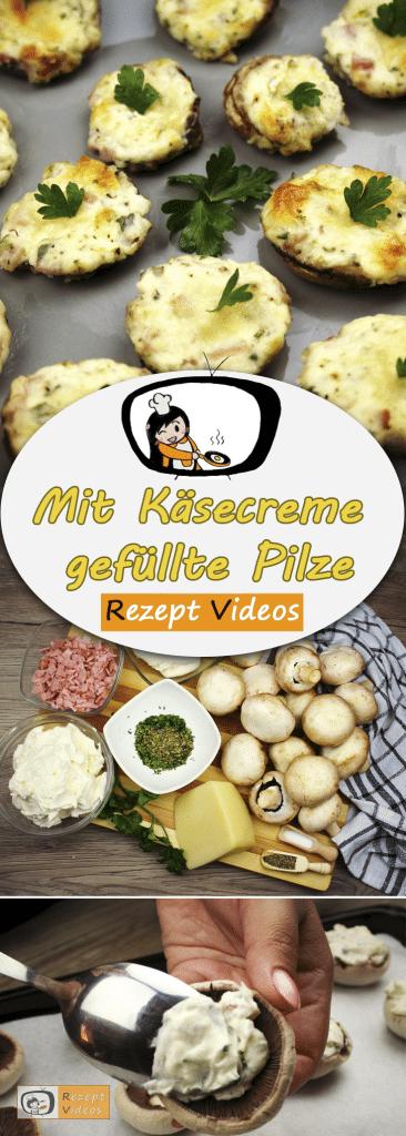 Mit Käsecreme gefüllte Pilze, Rezept Videos, einfache Rezepte, leckere Rezepte, schnelle Rezepte, Rezeptideen, Pilzrezepte
