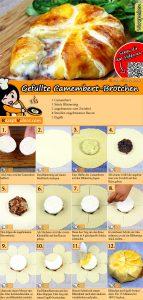 Gefüllte Camembert-Brötchen Rezept mit Video