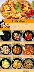Gemüse-Penne Rezept mit Video