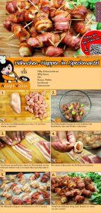Hähnchen-Happen im Speckmantel Rezept mit Video