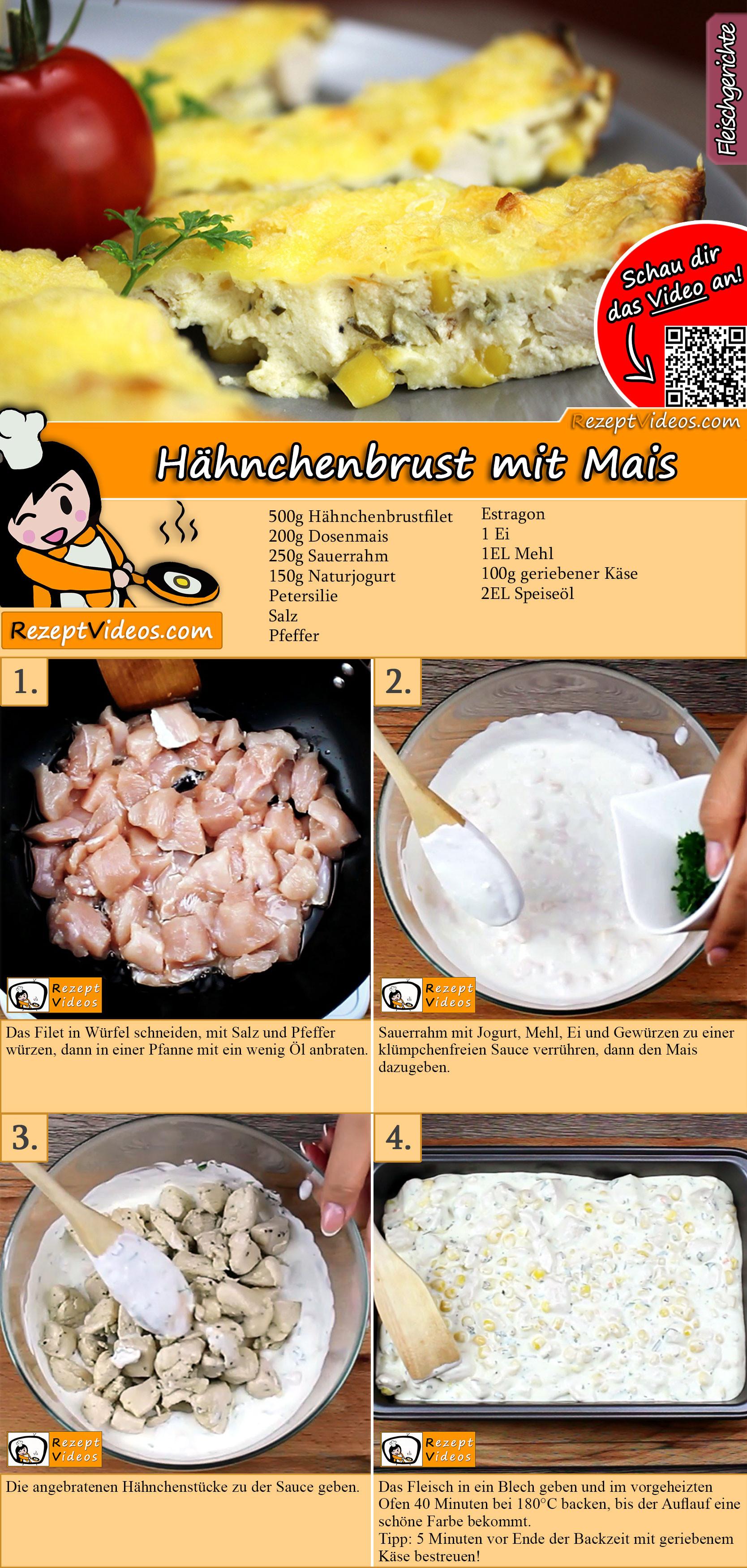 Hähnchenbrust mit Mais Rezept mit Video