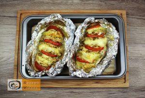 Hähnchenbrust mit Pesto und Mozzarella Rezept - Zubereitung Schritt 4