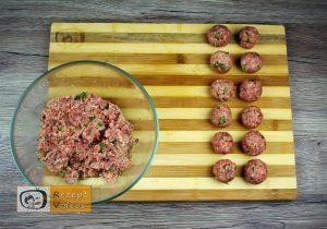 Mit Gehacktem gefülltes Knoblauch-Baguette Rezept - Zubereitung Schritt 1