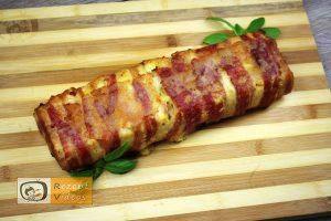 Hähnchenbrust mit Bacon und Käse in Rehrückenform gebacken - Rezept Videos