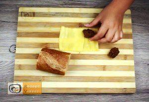 Mit Gehacktem gefülltes Knoblauch-Baguette Rezept - Zubereitung Schritt 4