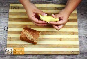 Mit Gehacktem gefülltes Knoblauch-Baguette Rezept - Zubereitung Schritt 5
