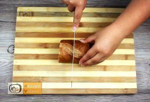 Mit Gehacktem gefülltes Knoblauch-Baguette Rezept - Zubereitung Schritt 7