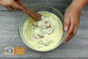 Hähnchenbrust mit Bacon und Käse in Rehrückenform gebacken Rezept - Zubereitung Schritt 3