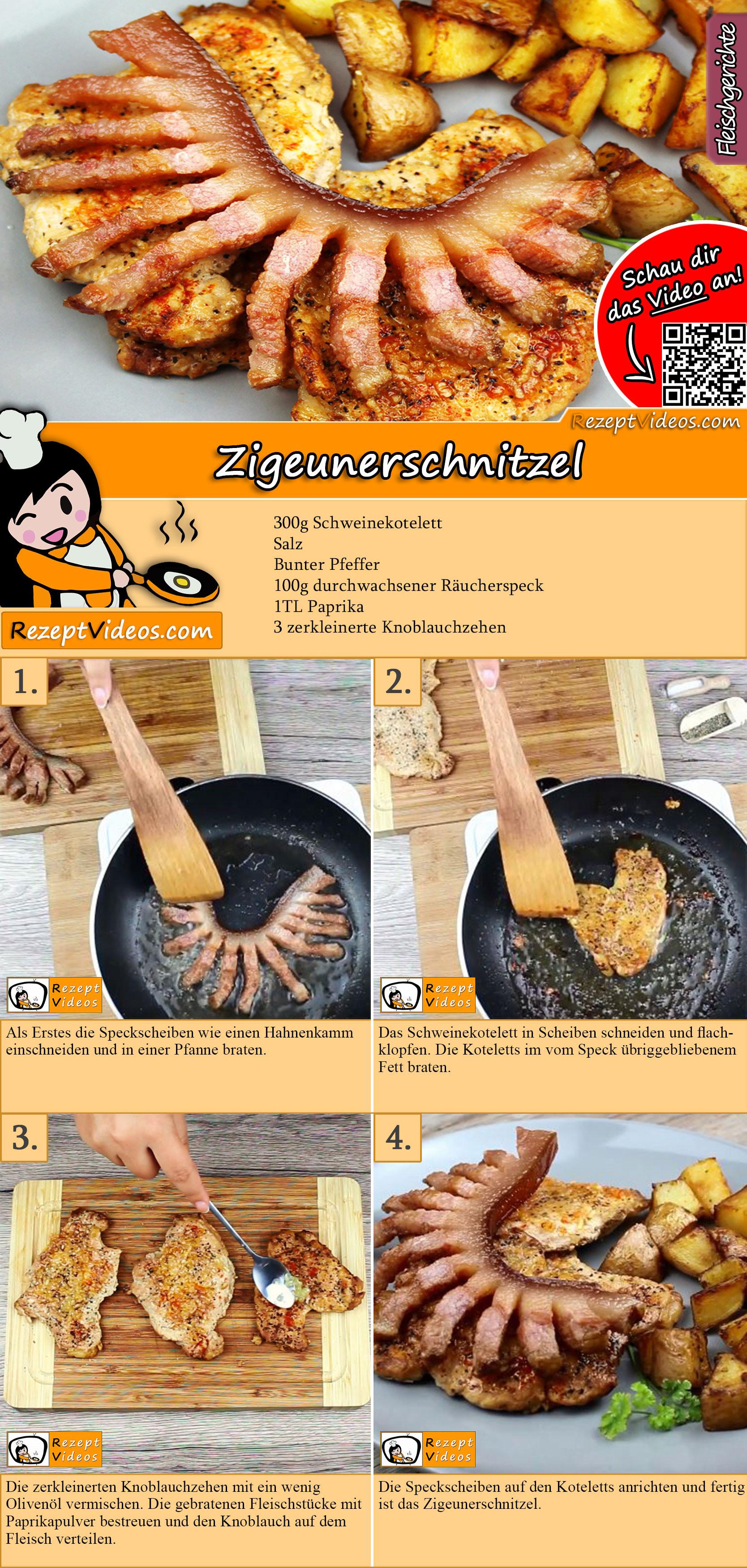 Zigeunerschnitzel Rezept mit Video