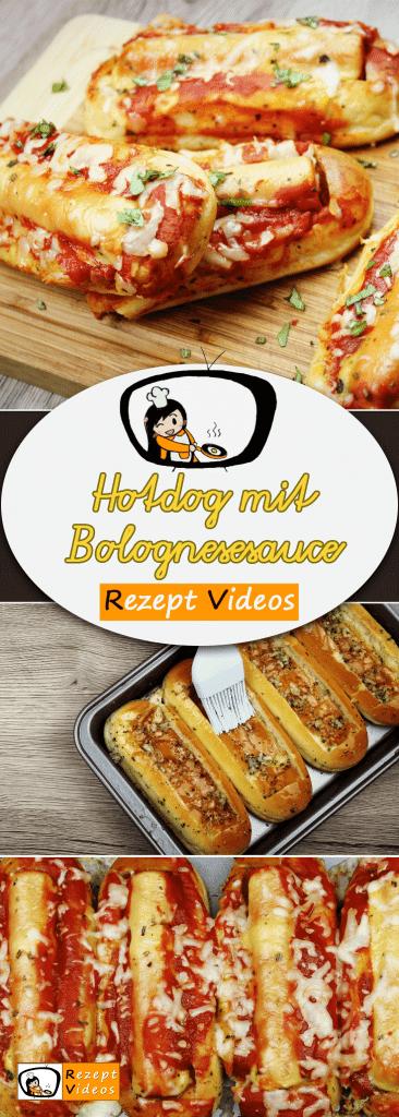 Hotdog mit Bolognesesauce, Hotdog Rezept, Rezept Videos, einfache Rezepte, Mittagessen Rezept, leckere Rezepte