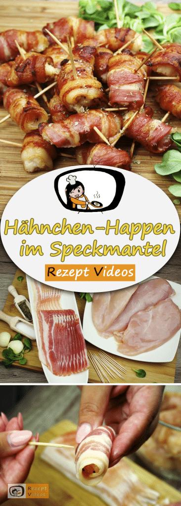 Hähnchen-Happen im Speckmantel, Rezept Videos, einfache Rezepte, Hähnchenrezepte, leckere Rezepte