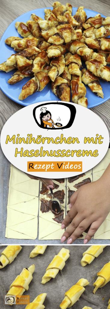 Minihörnchen mit Haselnusscreme, Kuchen, Rezept Videos, einfache Rezepte, Kuchenrezepte, leckere Rezepte