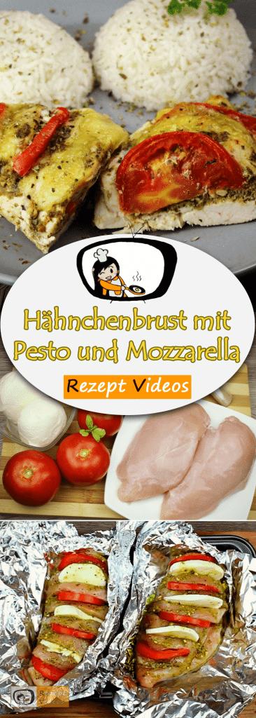Hähnchenbrust mit Pesto und Mozzarella, Hähnchengerichte, Geflügelgerichte, Rezept Videos, einfache Rezepte, leckere Rezepte