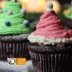 Tannenbaum- und Nikolausmützen-Muffins