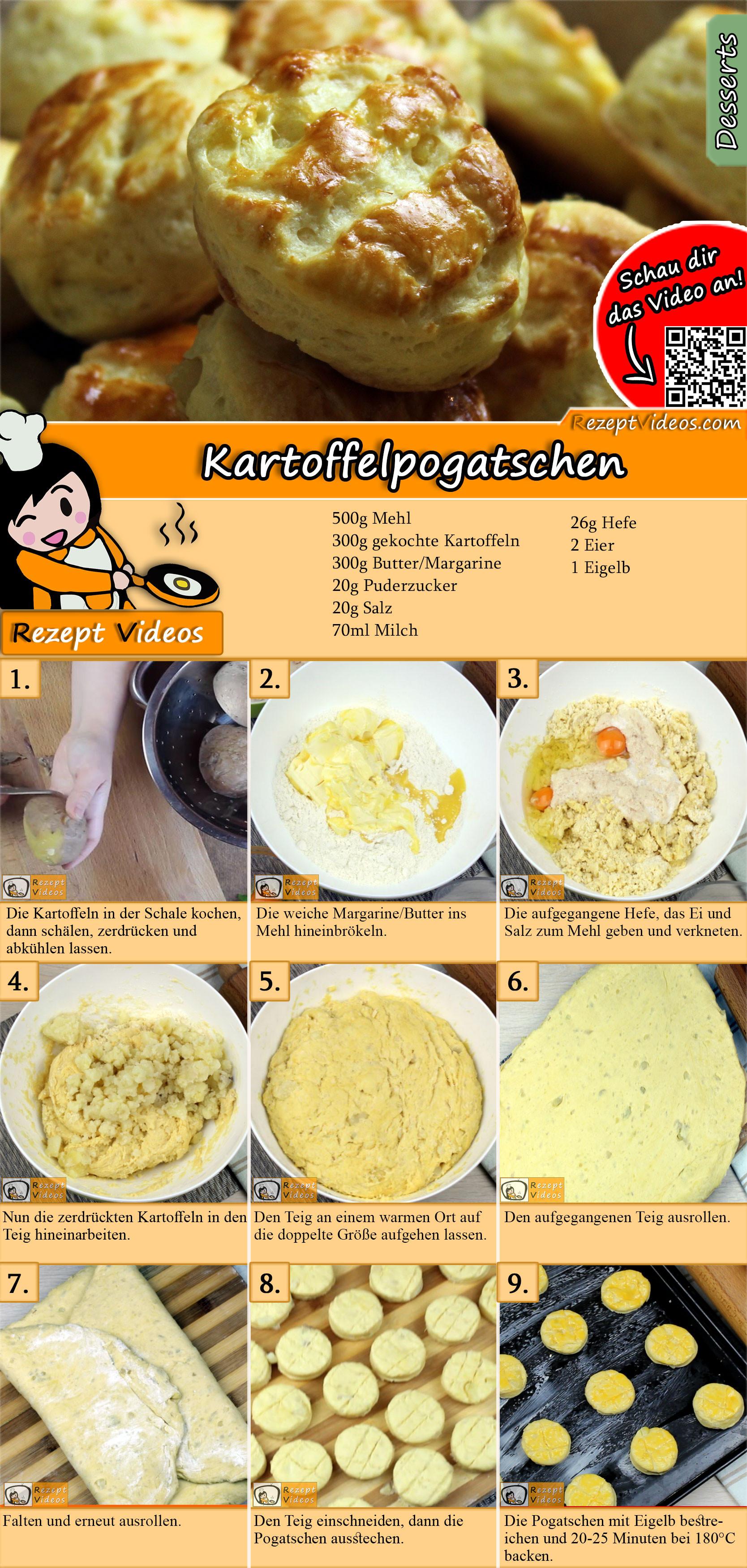 Kartoffelpogatschen Rezept mit Video