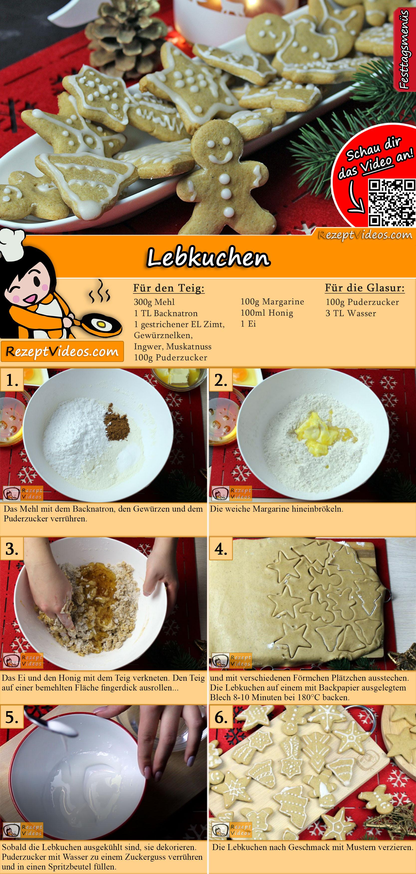 Lebkuchen Rezept mit Video