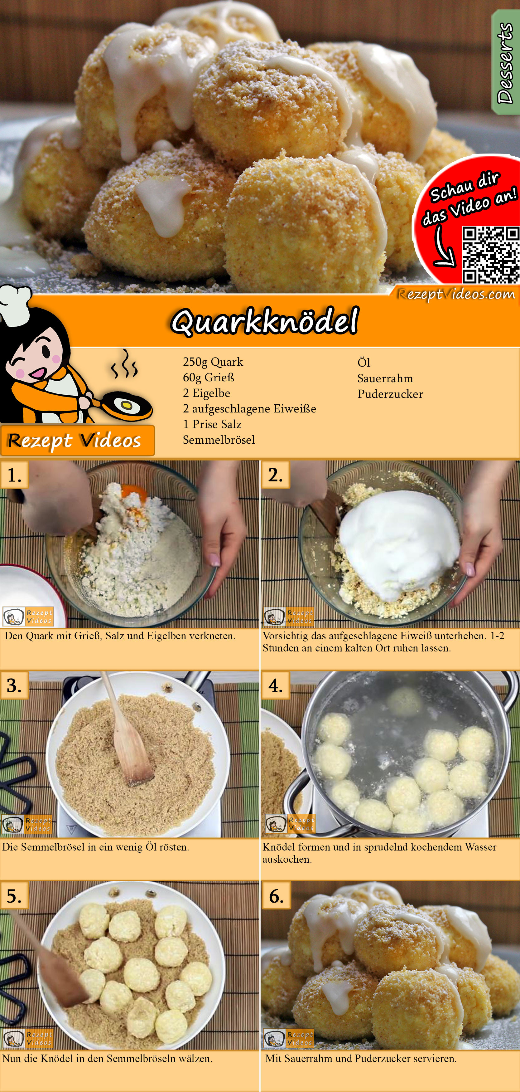 Quarkknödel Rezept mit Video